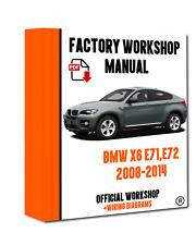 >> OFFICIAL WORKSHOP Manual Service Repair BMW Series X6 E71 2008 - 2014