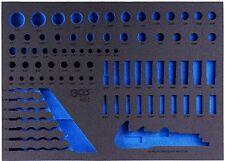 Steckschlüssel Satz Zoll Werkzeug Harley Werkstattwagen Schaumstoffeinlage BGS