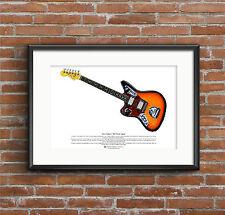 Kurt Cobain's Fender Jaguar guitar ART POSTER A3 size