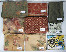 Mixed Lot Quilting Fabric or Art & Craft Projects 9 pieces Plus Trimmings vtg