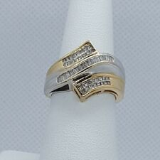 10K Yellow Gold Baguette Right Hand Ring