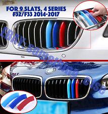 BMW 4 serie F32 F33 coupe/convertible,Grille M tri-Colour Cover Cap Clips strip
