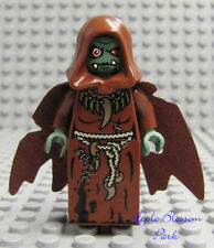 NEW Lego TROLL SORCERESS MINIFIG - Female Queen Brown Hood & Cape Sorcerer 7097
