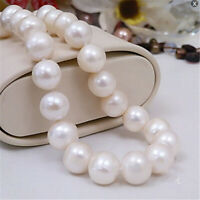 11-12mm natural white south sea pearl necklace 16 inch oversized AAA+ Party