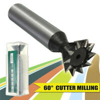 """3//8/"""" Diameter 60° Included Angle M42 Cobalt Dovetail Cutter Moon Cutter USA"""