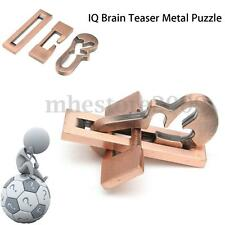 Vintage Metal Puzzle IQ Mind Brain Teaser Educational Toy Gift  Adults Child