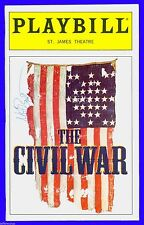 Playbill + The Civil War + Autographed by Matt Bogart + Opening Night