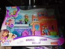 Fisher Price Dora Animal Adoption Center & Playa Verde Cabana Playset 2 Lot NEW