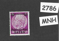 MNH / OSTEN overprint stamp 1940 Hindenburg 80GR German occupation Poland WWII