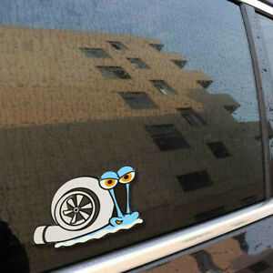 Turbo Snail Funny Car Sticker Styling Bumper Window Trunk Decal Decor Accessory