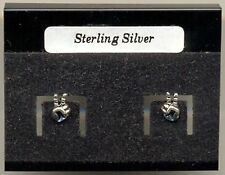 Victory Finger Peace Sign Sterling Silver 925 Studs Earrings Carded
