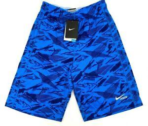 Nike Boys XLarge Dri-Fit Fly Training Drawstring Shorts Blue 651614 With Pockets