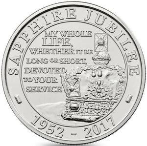 2017 Elizabeth II Commemorative £5 Sapphire Jubilee Uncirculated Condition
