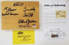 Showtime LAKERS team signed Game-Used Floor MAGIC ~ JABBAR ~ WORTHY ~ PSA/DNA