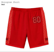 Supreme Monogram Shorts Red Black Dollar Signs 80 Size Medium BRAND NEW S/S 2018