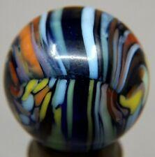 "Marbles: 21/32 + n/Mint CAC Christensen Agate Cobalt base ""Worlds Best Guinea"""