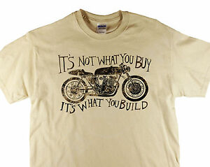 I's Not What You Buy... Bike Motorcycle Retro Distressed Print Biker T-shirt