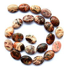 Natural Flame Jasper Flat Oval Beads 13×18mm16""