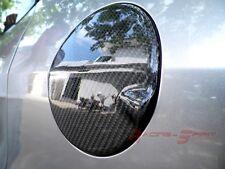 3D GLOSSY REAL TWILL CARBON FIBER FUEL DOOR LID COVER FOR 01-07 HONDA FIT GD JDM