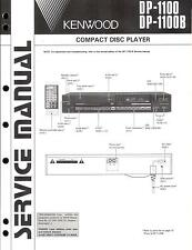 KENWOOD original service manual pour dp-1100 1100b