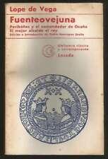Lope De Vega Book Fuenteovejuna 1974 Losada