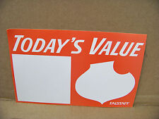 """Falstaff Beer Advertising Poster, display sign, """"Today's Value"""""""