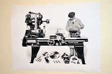 ENGINEER BLUE PRINT, SOUTH BEND LATHE, GARAGE ART, LARGE INDUSTRIAL POSTER 18x24