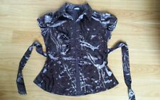 Dorothy-Perkins-Ladies-Dark-Pattern-Sleeveless-Top - Size 10