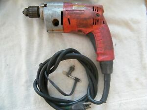 "Milwaukee MAGNUM 3/8"" Drill Very Good STRONG Drill used and dirt stained"