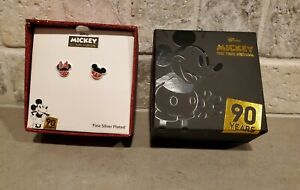 Disney Minnie & Mickey Mouse Mismatched Stud Earrings 90 Years Celebration