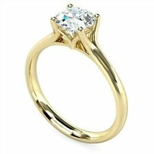 Ring Solid 14K Yellow Gold Ring 2.10Ct Round Cut Moissanite Diamond Engagement