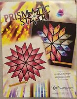 """Prismatic Star"" Foundation Pieced Quilt Kit by Quiltworx, in pink, 64"" x 64"""