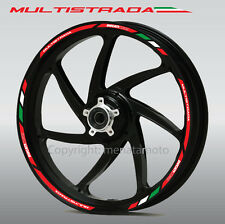 Ducati Multistrada Corse motorcycle wheel decals 12 rim stickers set 1100 1200