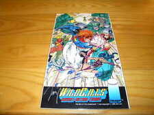 "Jim Lee Signed Wildcats Covert Action Teams 7"" x 12"" Promo Card W/COA"