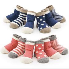 Set de 4 Pares Lovely Cute Calcetines De Algodón para 1-3Y Bebé Niña Niño Niños
