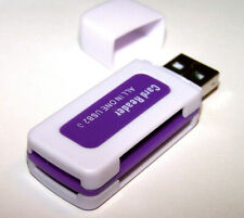 All In One Memory Card Reader USB Adapter, Micro SD SDHC TF M2 MMC MS PRO purple