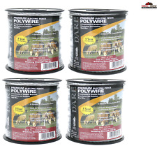 4Pk Electric Fence Wire Stainless Steel Polyethylene ~ New