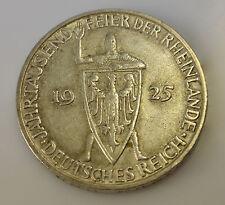 3 Mark Silbermünze Jahrtausendfeier Rheinland 1925 D