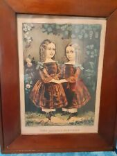 1863 Currier & Ives Lithograph Framed Fair Condition