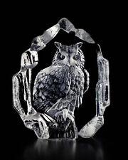 Mats Jonasson Crystal Owl Sculpture/Statue/Figurine 33600- Brand New!