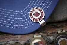 Canada Logo Ball Marker - Beautiful Silver & Red Maple Leaf- Ball Marker Only