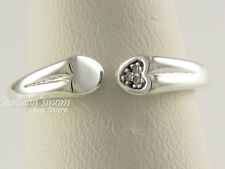 TWO HEARTS Authentic PANDORA Silver/Clear CZ LOVE Ring 7 (54) 196572CZ NEW w BOX