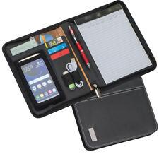 Schreibmappe DIN A5  -  Smartphonemappe  -  Konferenzmappe  -  Echt Leder