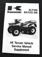 1988-06 KAWASAKI KLF300 BAYOU 300 ATV ALL TERRAIN VEHICLE SERVICE MANUAL