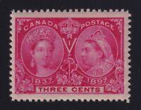 Canada Sc #53 (1897) 3c bright rose Diamond Jubilee Mint NH