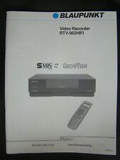 Blaupunkt RTV-965 (Panasonic NV-HS1000) Istruzioni per l´uso, Gebruiksaanwijzing