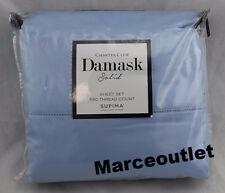 Charter Club Damask Solid 550 Thread Count QUEEN Sheet Set Horizon