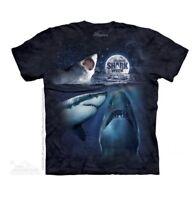 The Mountain Men's Three Shark Week Moon Adult T-Shirt S-L-XL-2X-3X Made in USA