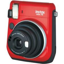 Fuji Instax Mini 70 Instant Camera with 10 Shots, Red - Christmas Gift Idea!
