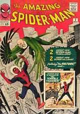 AMAZING SPIDER-MAN#2 (Marvel 1963) Vintage Comic Cover Poster Art